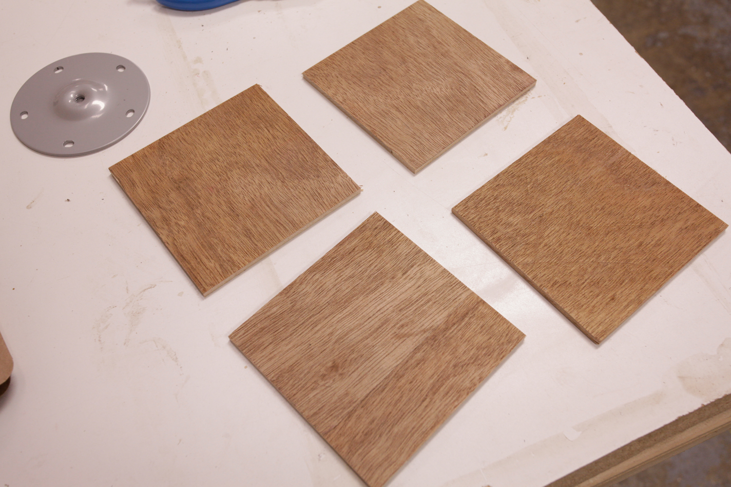 """Picture of Cutting and Gluing 1/4"""" Pieces"""
