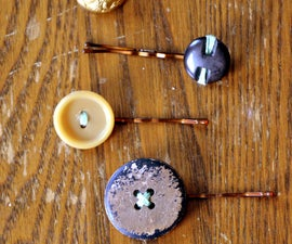 Make Your Own Button Barrettes