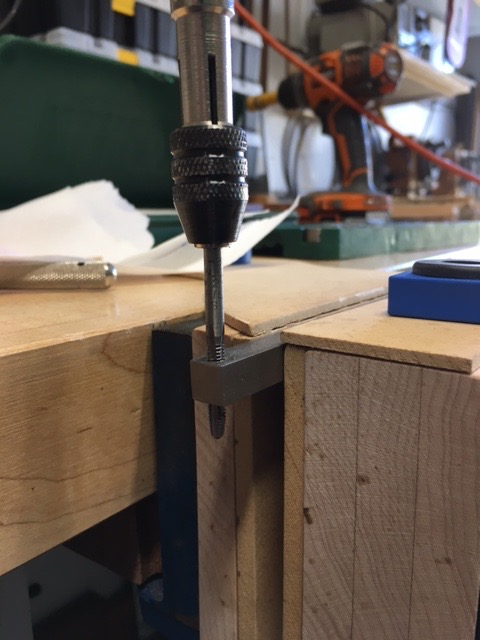 Picture of Tapping the SS Bar With a 8-32 Tap
