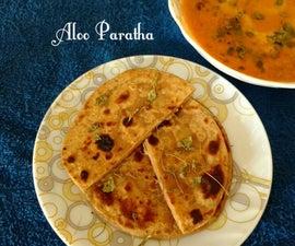 Aloo Paratha (Whole Wheat Flat bread with Potato filling)