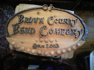 Handmade Sign for Bead Company