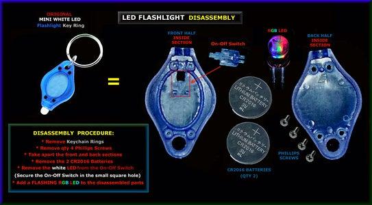 LED Key Ring FLASHLIGHT Disassembly