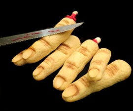 Realistic Hallowe'en Severed Finger Cookies