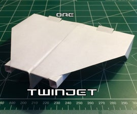 How to Make the TwinJet Paper Airplane