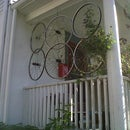 Bicycle Wheel porch screen