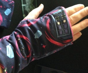 Doctor Who or Any Who Fleece Lined Wrist Warmers