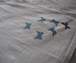 Fusing Plastic Bag Butterflies to Shirts