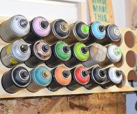 Simple Spray Paint Wall Storage
