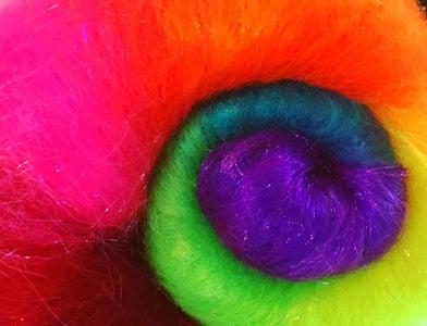 Rainbow Carded Batt
