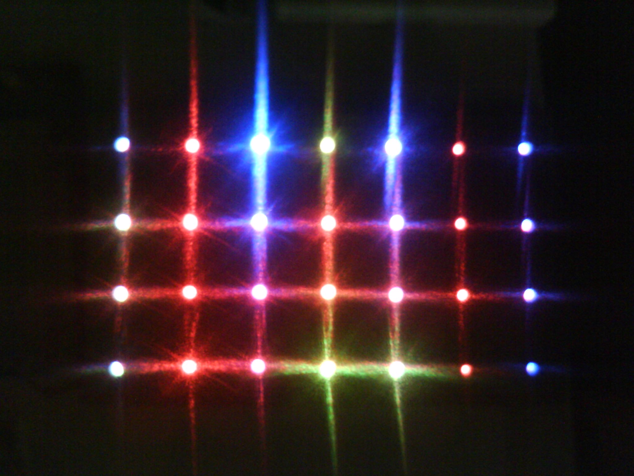 Picture of Sound Activated 4 X 7 RGB LED Matrix