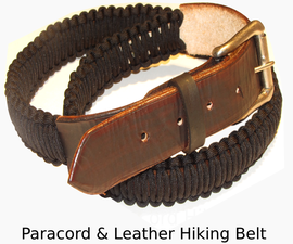 Basic Leather and Paracord Survival Hiking Belt