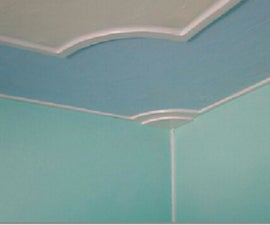 DIY by hand bedroom celling & wall designing
