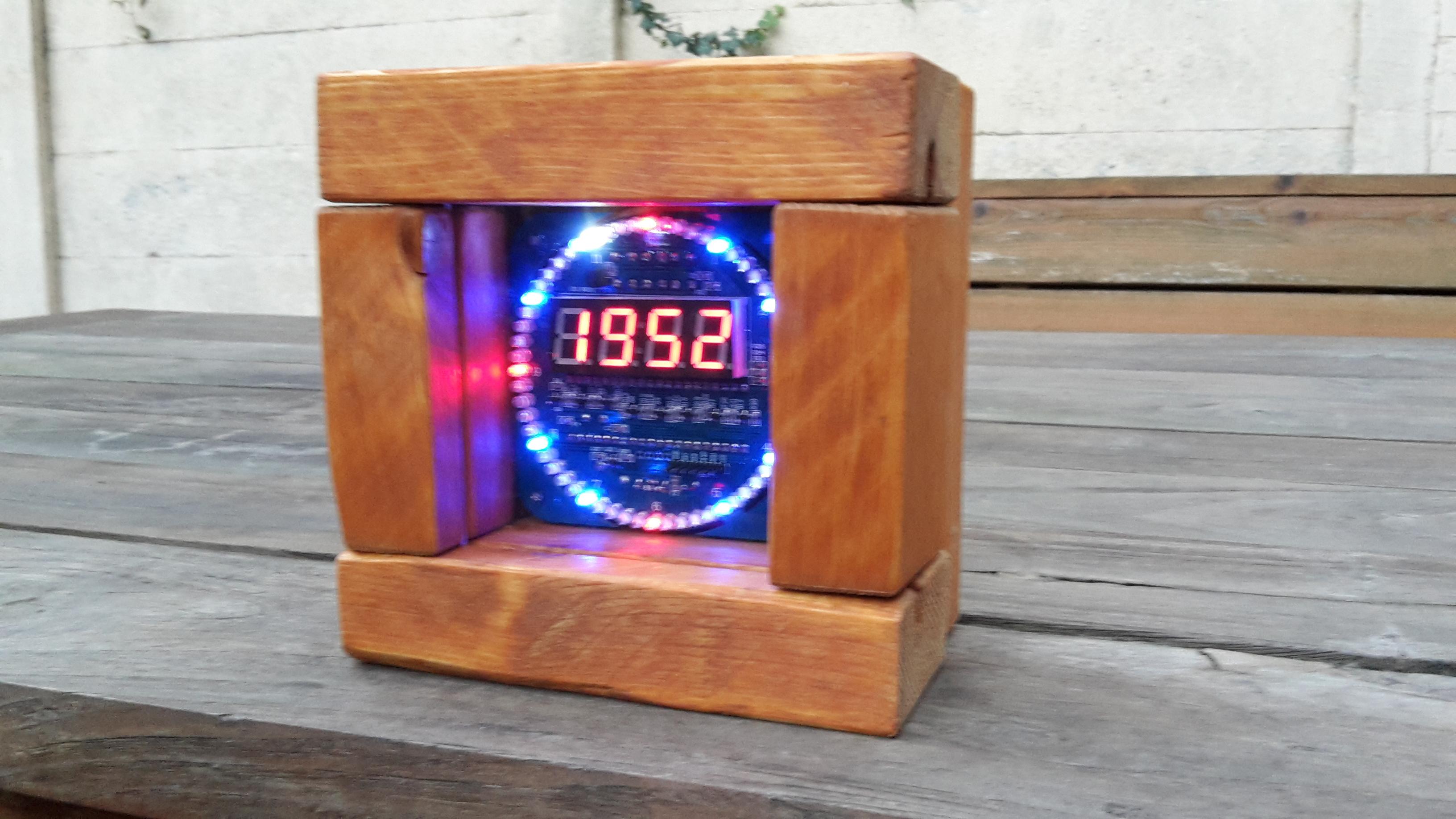 Picture of Custom Wooden Case for DIY Ebay DS1302 EC1204 V1.2 Rotating Clock