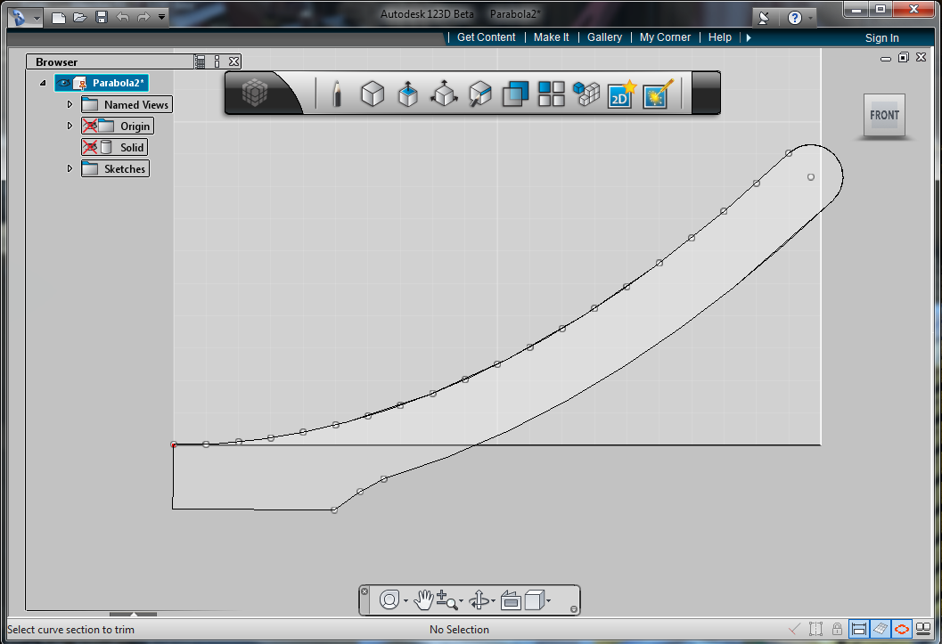 Picture of Creating the Shape in 123D