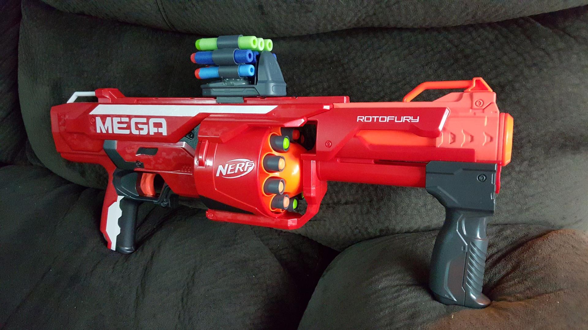Picture of Modify Nerf Mega Rotofury to Shoot Elite Darts