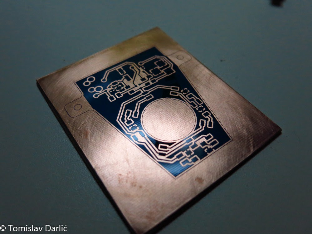 Picture of Peeling Off Press-n-peel and Etching