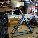 Build a shop stool out of a junk bike