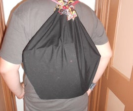 Make a Drawstring Backpack from a Pillowcase