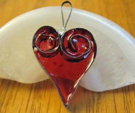 Tin Can Quilled (Filagree) Heart Pendant