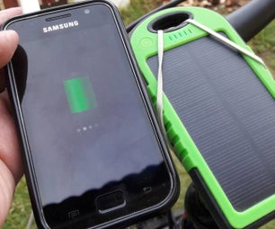 Mounting Solar Power Bank Without Bike Mount