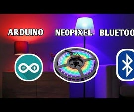 Neopixel Ws 2812 LED Strip With Arduino Controlled by Bluetooth From Android  or Iphone