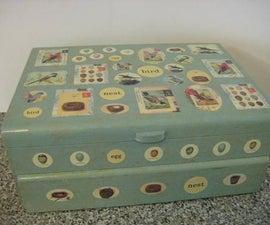 Decoupaged Treasure Box