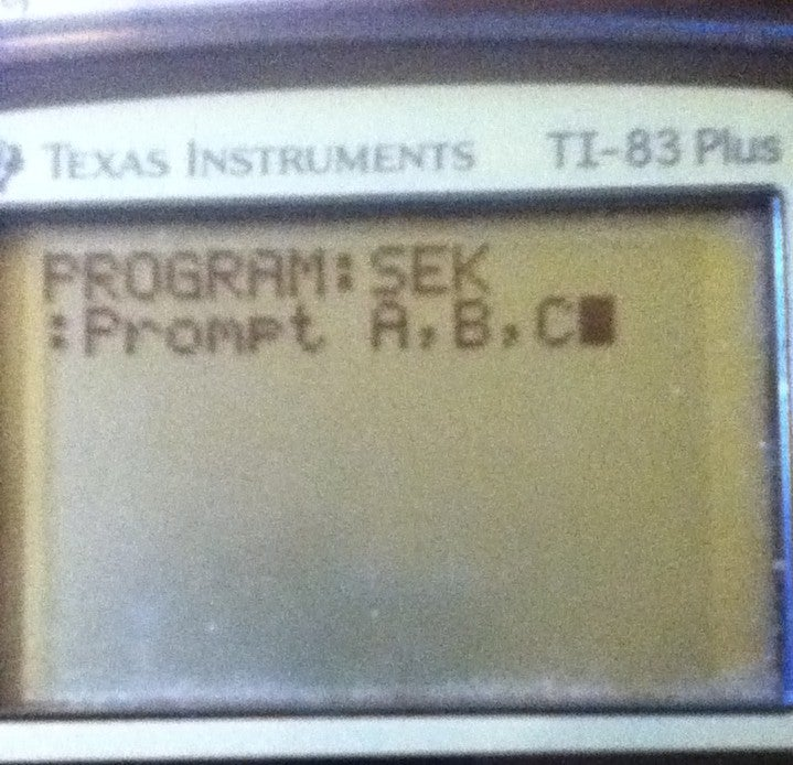 How To Create Programs On A Graphing Calculator 12 Steps Instructables