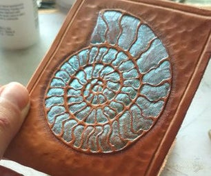 Tooling an Ammonite in Leather