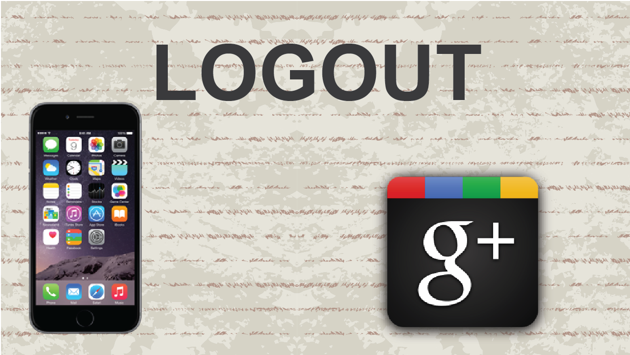Picture of Logout of Google Plus on Mobile App