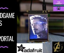 Avengers: Endgame Posters on Adafruit PyPortal - Pocket Player