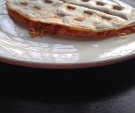 Waffle Iron Pizza Tortilla!