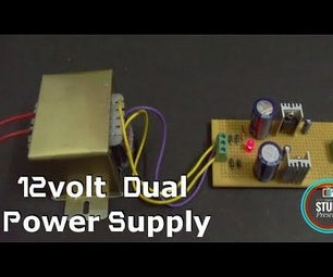 +12/-12 Volt Transformer Based Dual  Voltage Power Supply