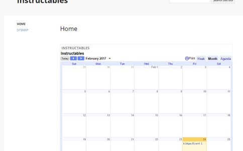 Editing the Calendar on Your Site