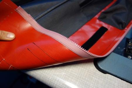 Lower Side Velcro: Attach