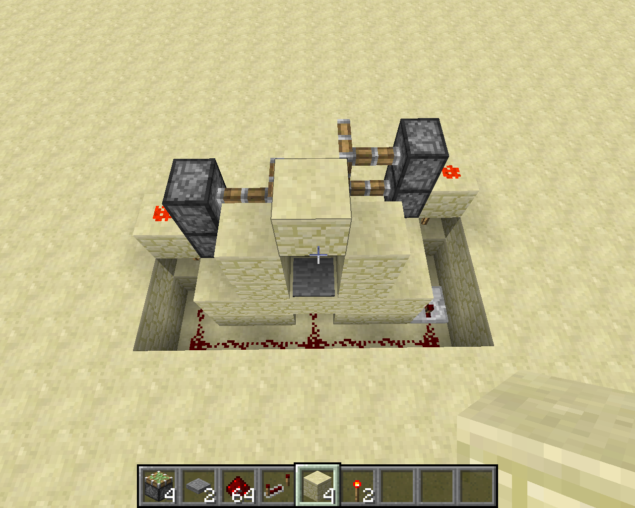 Picture of Redstone, Pressure Plate, Redstone Torches, and Repeaters