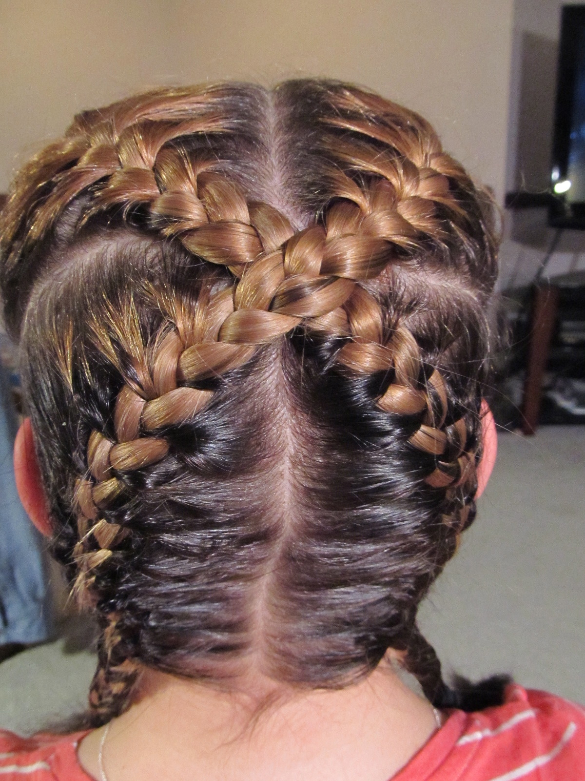 """Picture of How to Create an """"X"""" Braid"""