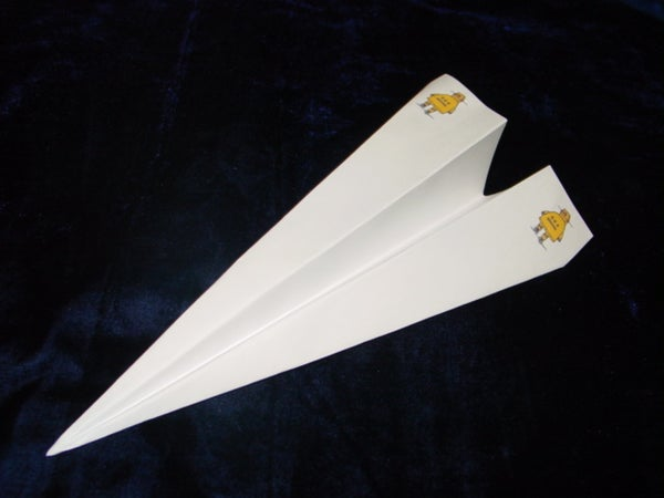 Toss It!: the Instructables Robot Paper Airplane; Classic.