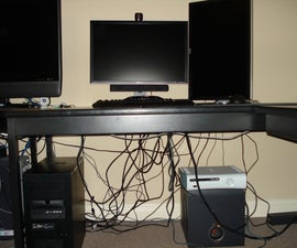 Computer Cable Management on the Cheap