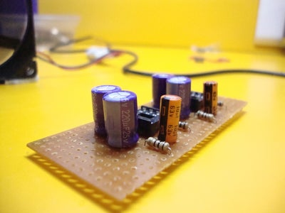 Solder the Amplifier Circuit on Perfboard