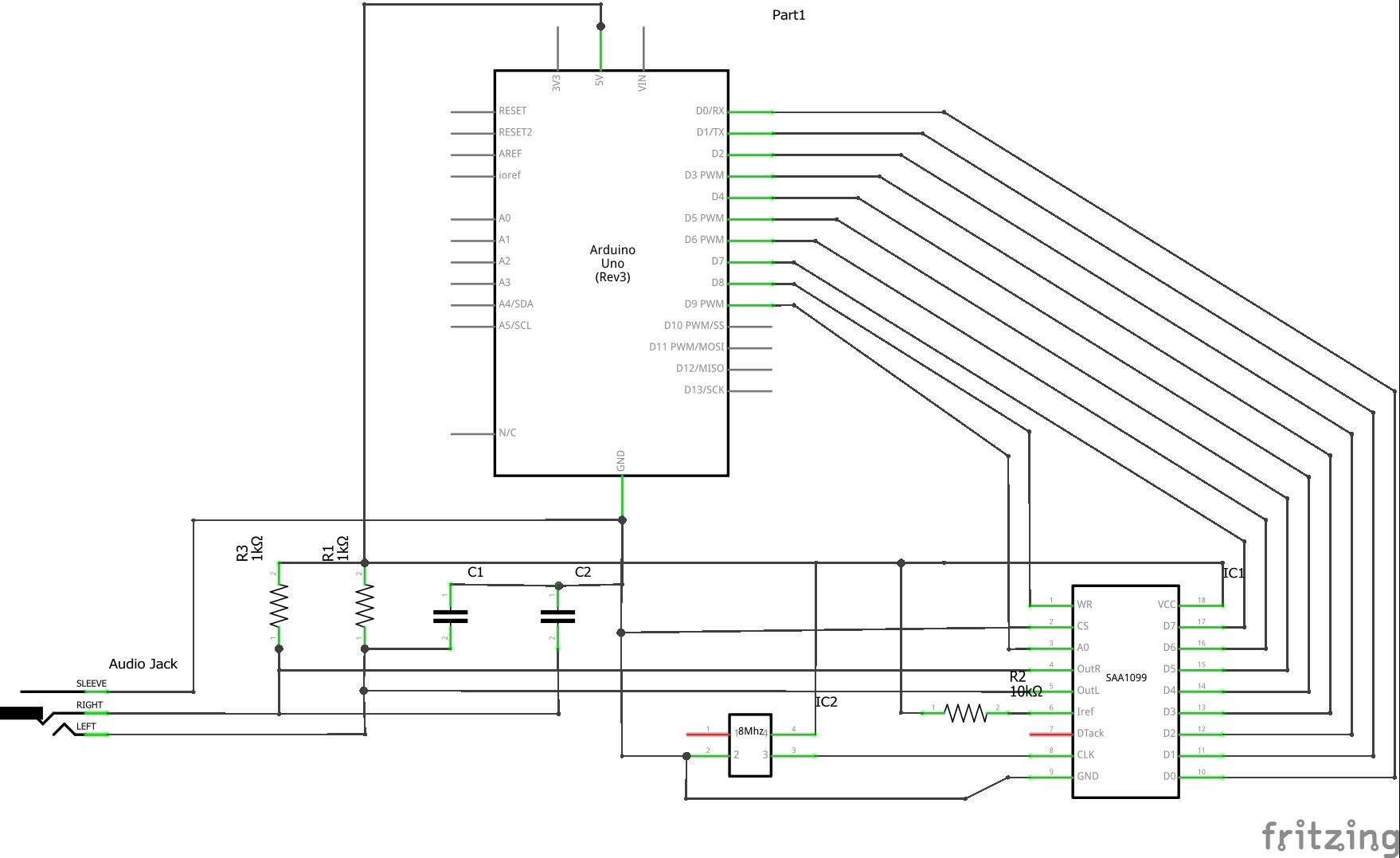 Picture of Wiring - SAA1099