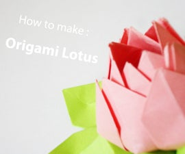 How to make: The origami lotus