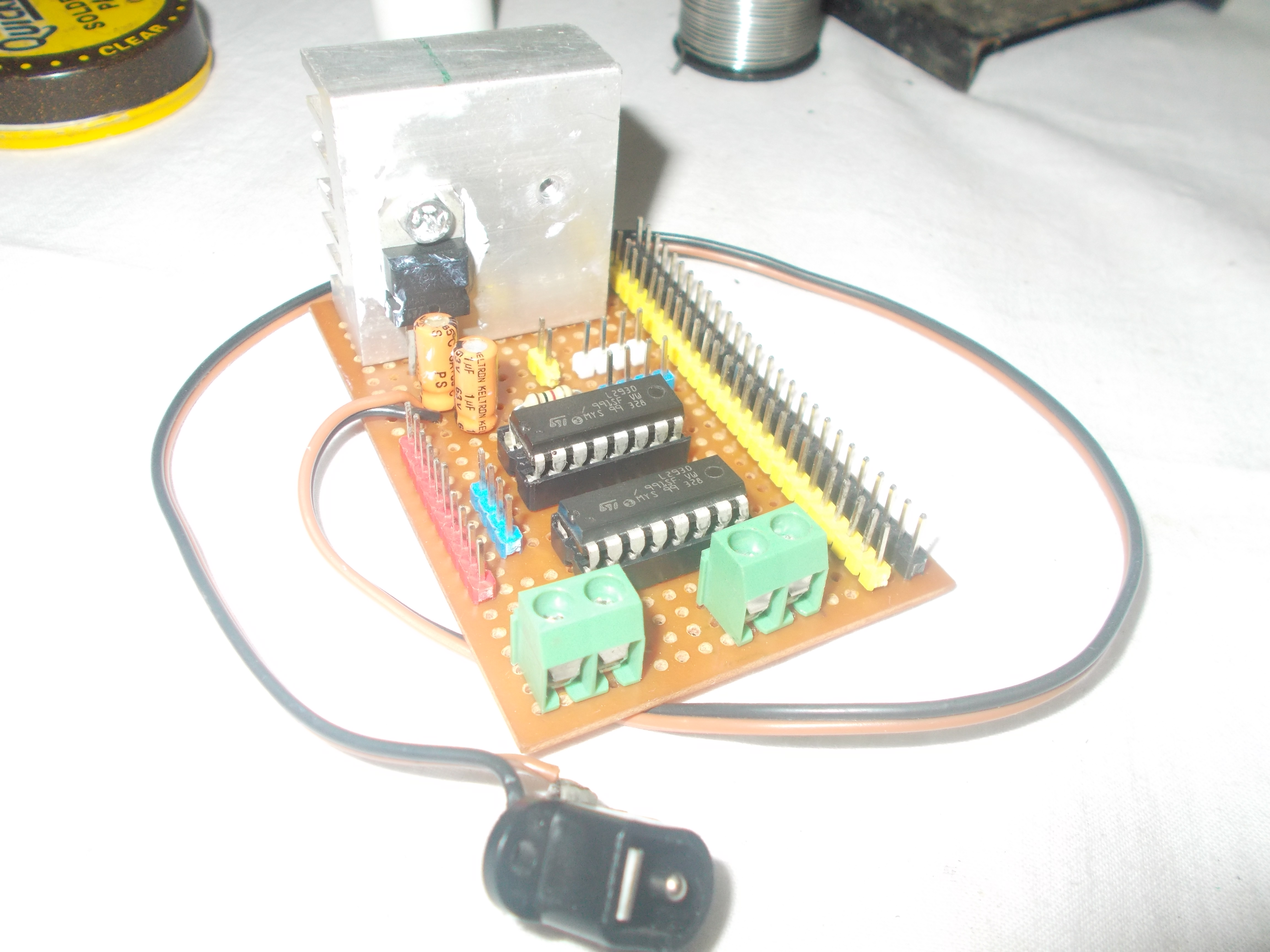 Picture of Power Distribution and Motor Driver Board