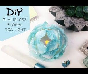 DIY Flameless Floral Tea Light