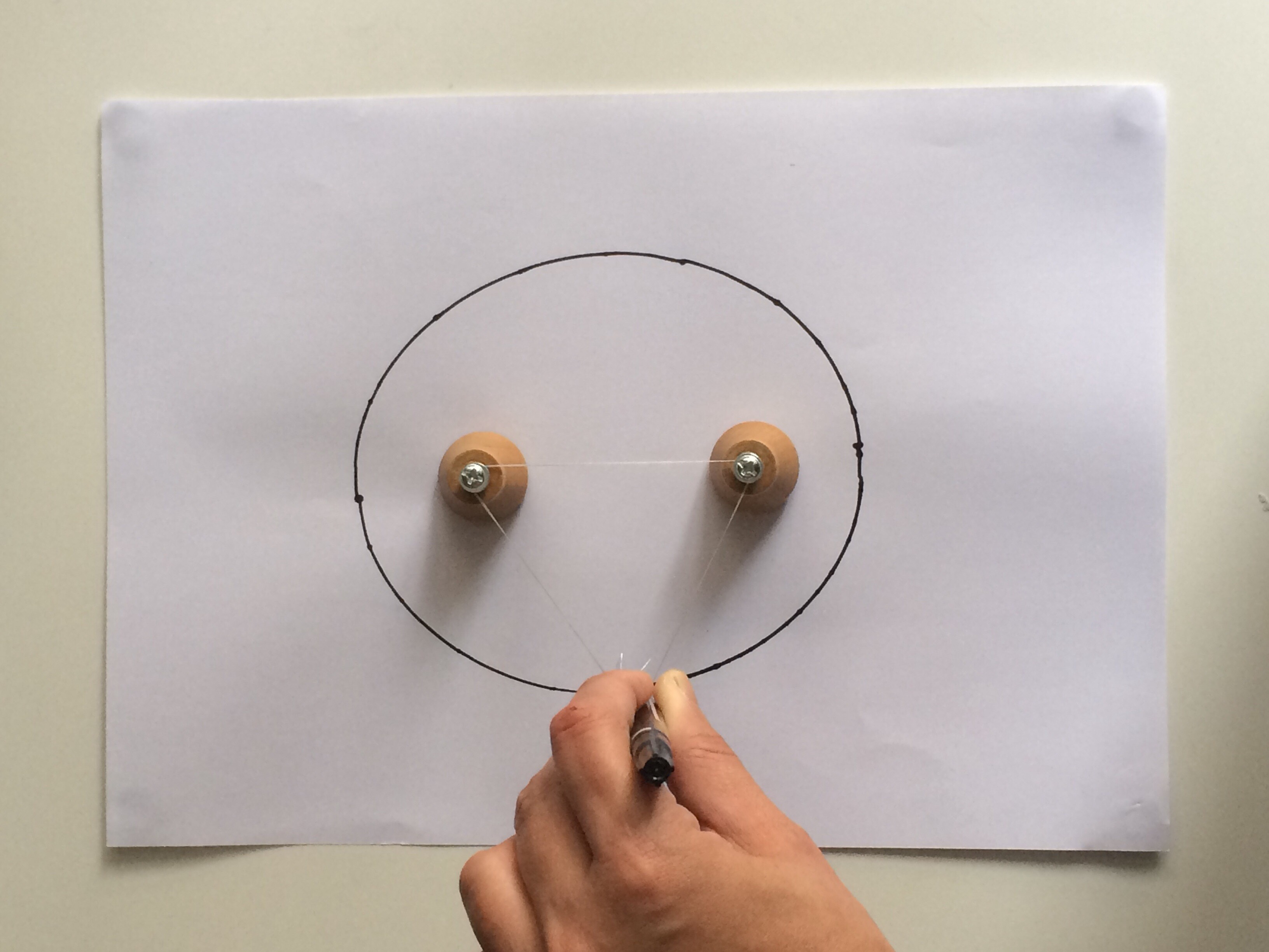 Picture of How to Draw an Oval With Abandoned Drawer Knobs