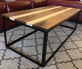 Coffee Table - Walnut, Maple and Steel
