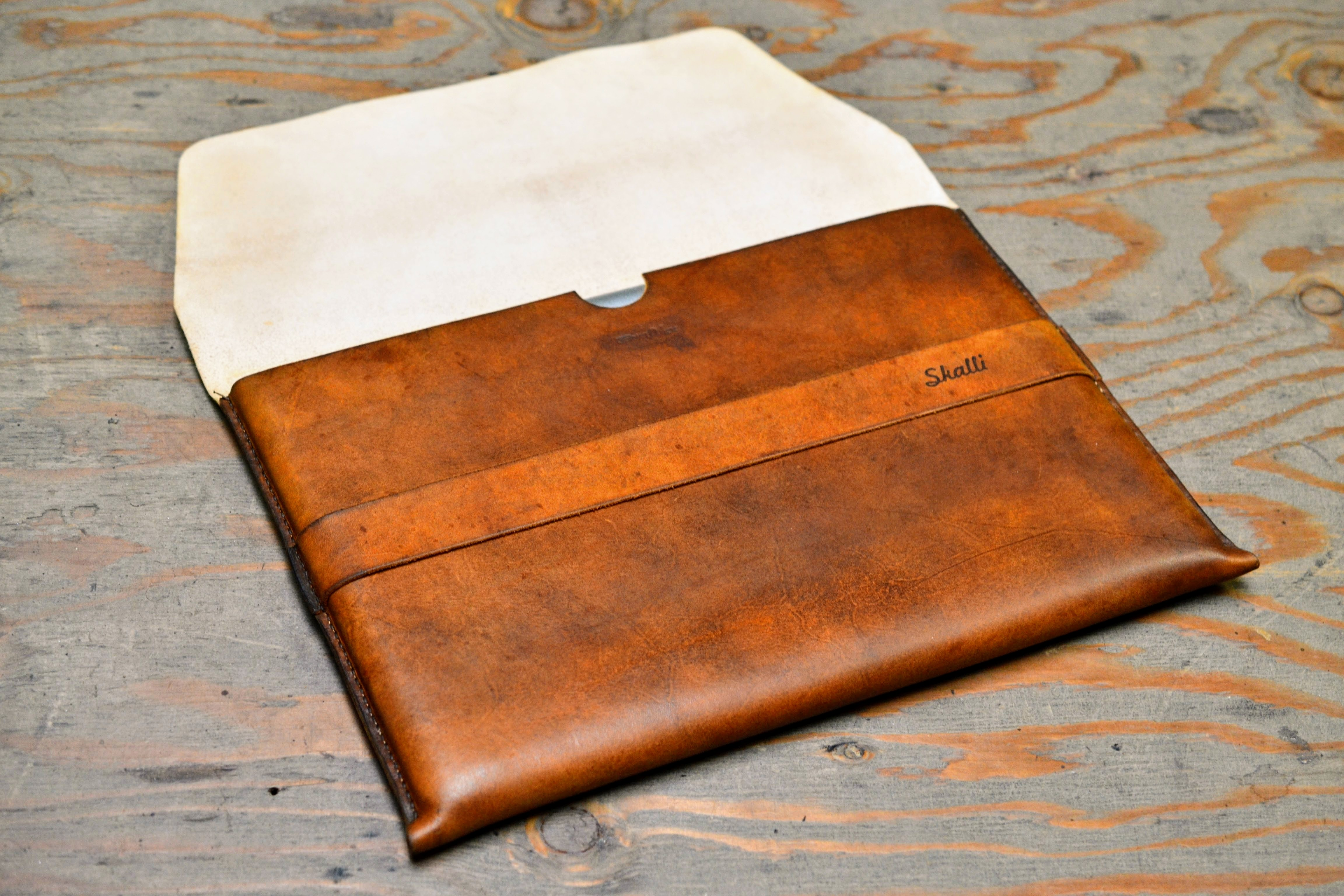 Picture of Custom Leather Laptop Sleeve