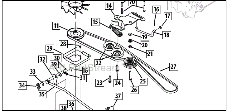Transmission Belt / Fan Replacement Cub Cadet LTX1045: 9 Steps