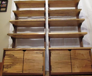 Modern Shelves With a Rustic Twist