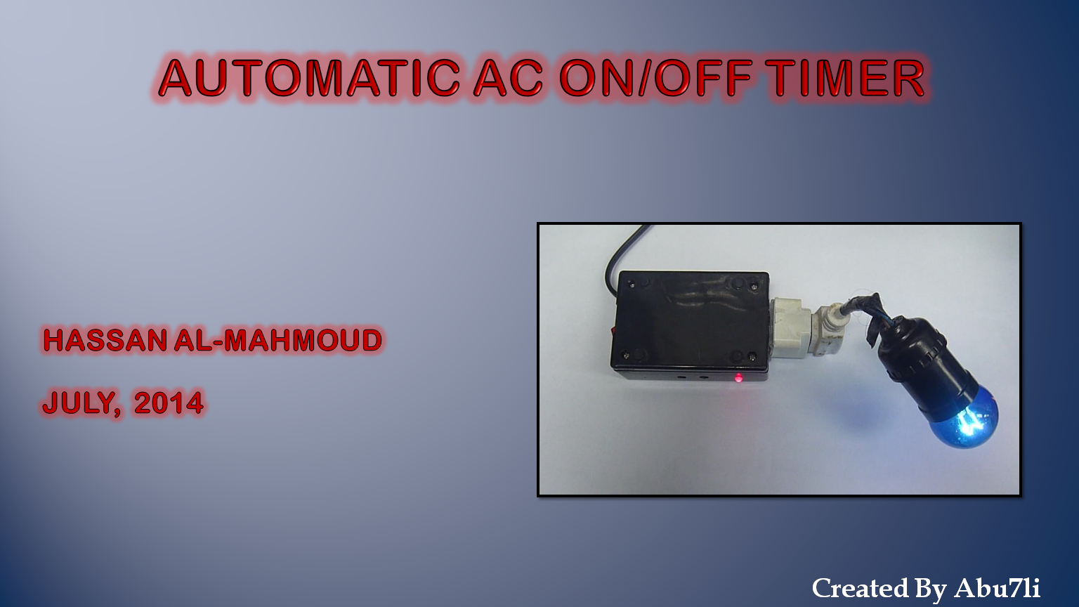 Picture of Automatic AC On/off Timer