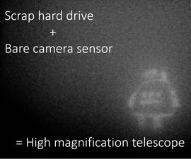 Aragoscope: Scrap Hard Disc As a Prototype Space Telescope